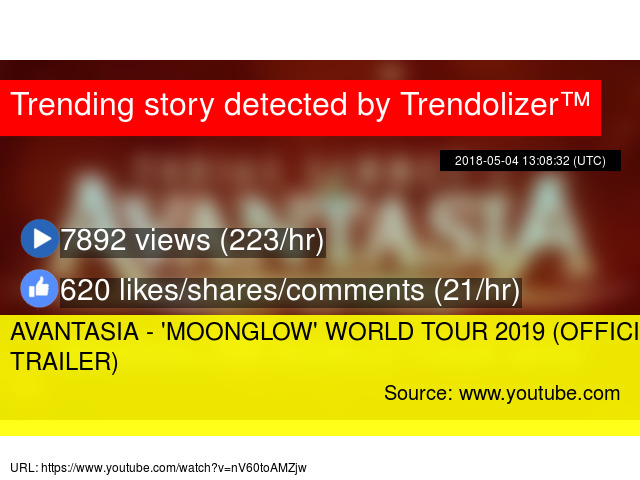AVANTASIA - 'MOONGLOW' WORLD TOUR 2019 (OFFICIAL TOUR TRAILER)
